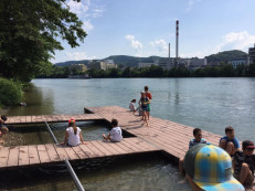 Sommertag am Rhein